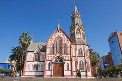 圣马科斯de阿里卡大教堂外部在阿里卡,智利 图库摄影