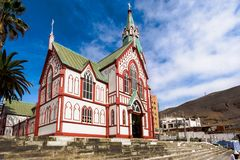 圣马科斯de阿里卡,智利大教堂  库存照片