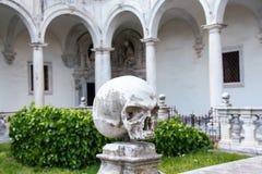 圣马蒂诺修道院淡黄绿在那不勒斯 库存照片