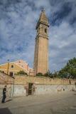 圣马蒂诺教会在Burano 库存图片