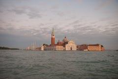 圣黄昏的乔治Maggiore在威尼斯式盐水湖 图库摄影