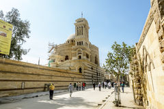 圣洁了不起的受难者乔治的寺庙战胜在开罗 库存照片