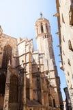 圣洁交叉和圣徒尤拉莉亚的大教堂 (简单的梯度-仅没有梯度滤网 免版税图库摄影