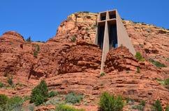 圣洁交叉的教堂 免版税库存图片