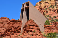 圣洁交叉的教堂 免版税库存照片