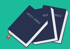 圣经传染媒介图象,圣经关闭了传染媒介例证 库存照片