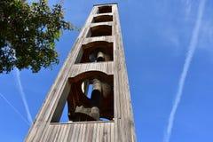 圣洛伦佐教会的钟楼在波尔图Rotondo -撒丁岛 库存图片