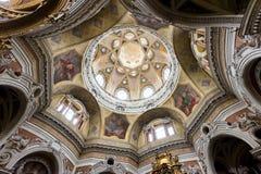 圣洛伦佐,都灵,意大利教会  免版税库存照片