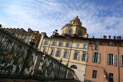 圣洛伦佐,都灵,意大利教会 免版税图库摄影