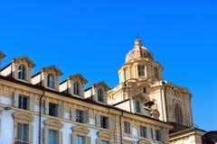 圣洛伦佐-都灵意大利教会  库存图片