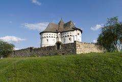 圣洁保护堡垒教会15世纪,乌克兰 免版税库存照片
