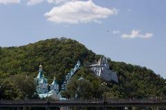圣洁假定修道院Svyatogorsk 免版税库存照片