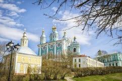 圣洁假定大教堂 斯摩棱斯克 俄国 库存照片