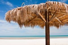 圣费利佩海滩Palapa 免版税库存照片