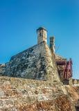圣费利佩de巴拉哈斯堡垒卡塔赫钠哥伦比亚 免版税库存照片