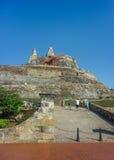 圣费利佩de巴拉哈斯堡垒卡塔赫钠哥伦比亚 免版税库存图片
