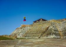 圣费利佩de巴拉哈斯堡垒卡塔赫钠哥伦比亚 免版税图库摄影