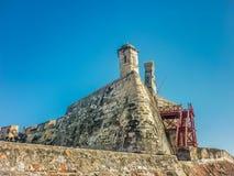 圣费利佩de巴拉哈斯堡垒卡塔赫钠哥伦比亚 库存照片