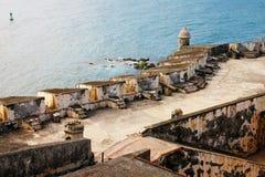 圣费利佩del Moprro Castle看法  免版税图库摄影