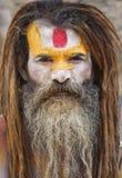 圣洁加德满都人sadhu 库存图片