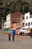 圣巴勃罗镇的喀喀湖的 免版税图库摄影