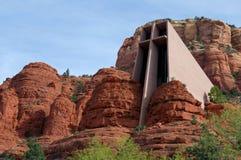 圣洁十字架教堂在Sedona,亚利桑那 免版税库存图片