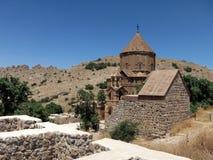 圣洁十字架的亚美尼亚大教堂在Akdamar海岛上的 库存图片