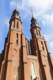 圣洁十字架的大教堂大教堂,奥波莱,波兰 库存图片