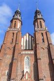 圣洁十字架的大教堂大教堂,奥波莱,波兰 图库摄影