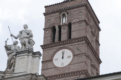 圣洁十字架的大教堂的门面在耶路撒冷 免版税库存照片
