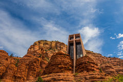 圣洁十字架的教堂在Sedona 库存照片