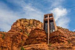 圣洁十字架的教堂在Sedona 免版税库存照片