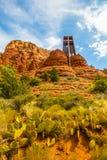 圣洁十字架的教堂在Sedona 免版税库存图片