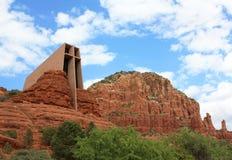 圣洁十字架的教堂 免版税库存照片