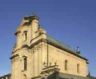 圣洁十字架的兴奋的教会在克罗斯诺 波兰 免版税库存图片
