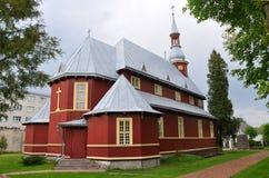 圣洁十字架的兴奋的教会在Baranavichy 迟来的 库存照片