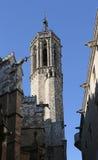 圣洁十字架, Gotic Barri,巴塞罗那,西班牙的大教堂的面貌古怪的人 图库摄影
