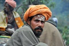 圣洁印度人sadhu 免版税图库摄影