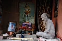 圣洁印度人sadhus 免版税库存照片