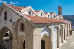圣洁发怒Omodos塞浦路斯的教会 免版税库存图片