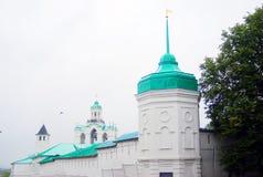 圣洁变貌修道院在雅罗斯拉夫尔市 联合国科教文组织遗产 免版税库存照片