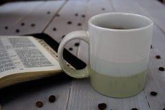 圣经咖啡豆 免版税库存照片