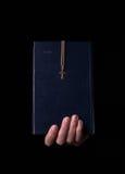 圣经在手中 库存图片