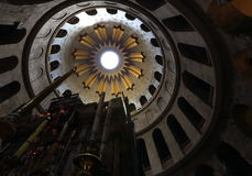 圣洁坟墓教会在老城耶路撒冷,耶路撒冷 图库摄影