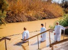 圣洁垂度在河约旦 图库摄影