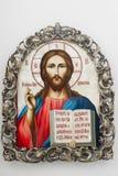 圣经基督图标开放的耶稣 免版税库存照片