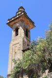 圣巴塞洛缪教会钟楼在Valldemossa 免版税库存照片