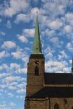 圣巴塞洛缪的大教堂在Pilsen 免版税库存图片