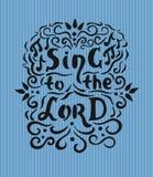 圣经字法唱歌给有笔记和华丽的阁下 库存图片