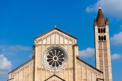 圣・季诺・维罗纳-意大利的大教堂 图库摄影
